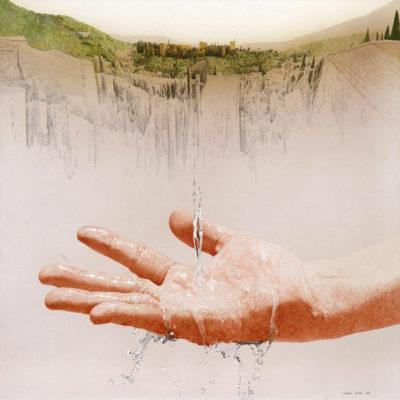 """MA, Granada"" 2007 Acrílico y óleo s/tela 100 x 100 cm"
