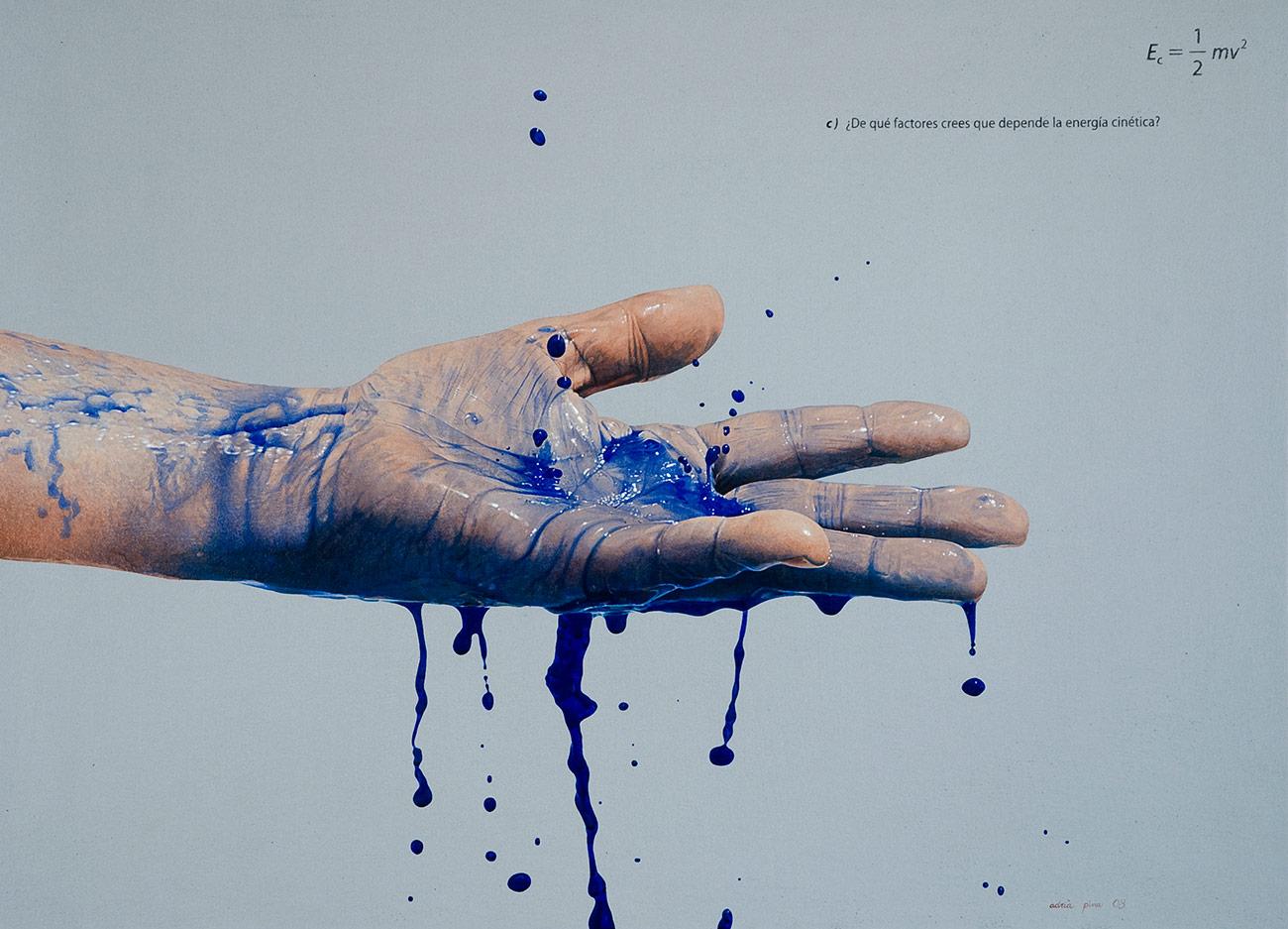 """MA, blavet, c)"" 2008 Acrílico, polvo de marmol y óleo s/tela 72 x 100 cm"